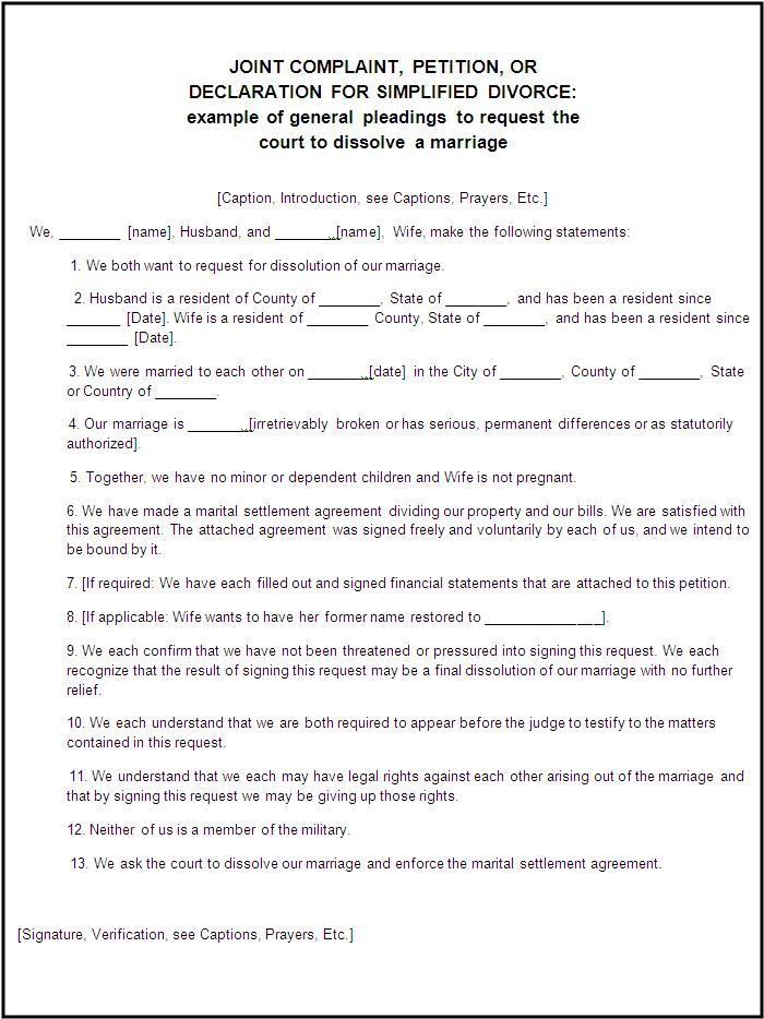 divorce papers in texas