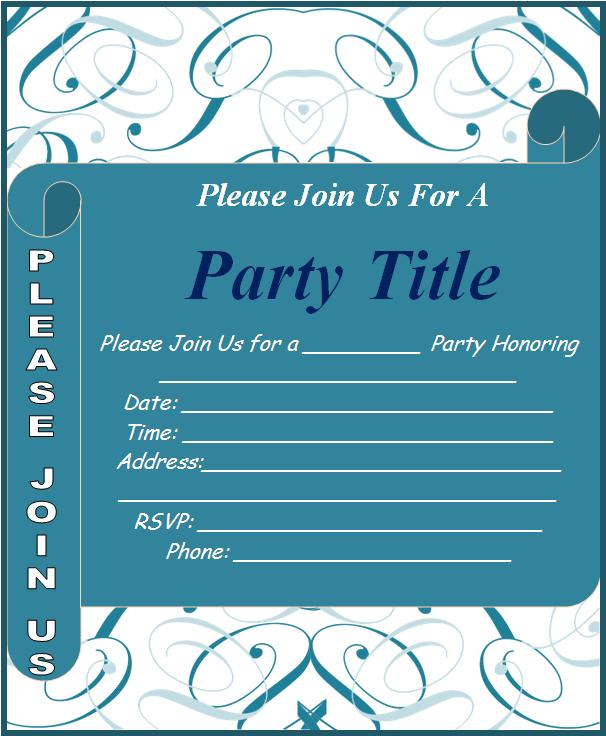 Event Invitation Template – Word Invitation Template