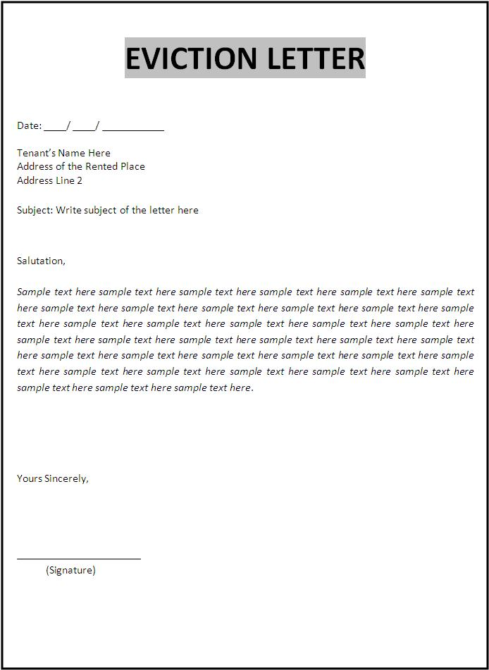 Click on the download button to get this Eviction Letter Template.