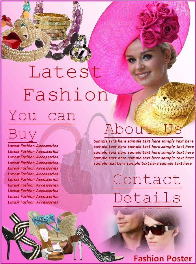 free fashion poster template