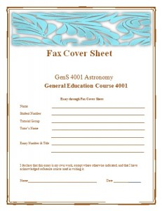 Fax Cover Sheet Templates