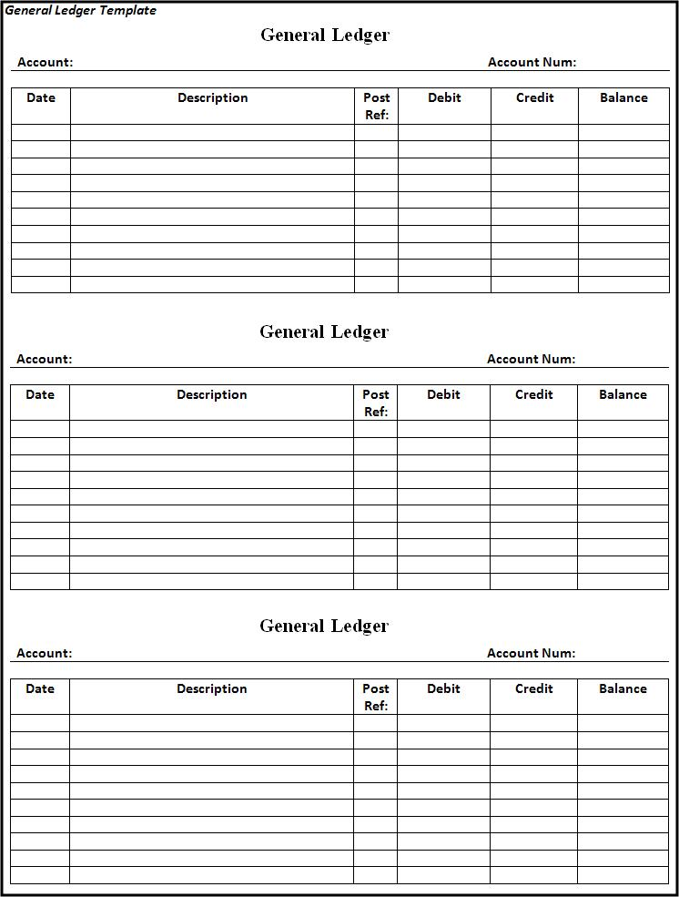 General Ledger Template | Free Printable Word Templates,