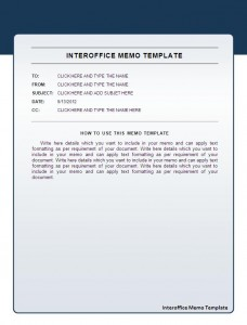 Interoffice Memo Template