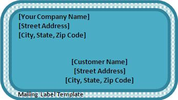 Mailing Label Template Free Printable