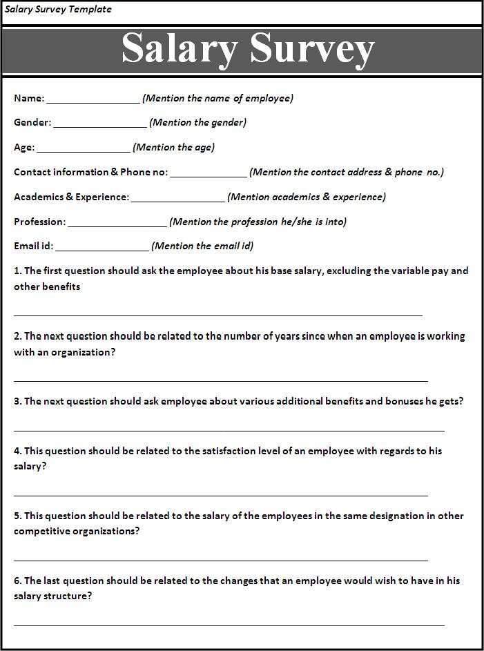 Survey Example Template Patient Survey Templates Free Sample