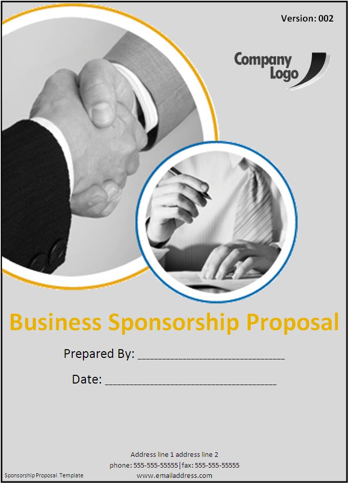 Doc585604 Free Racing Sponsorship Proposal Template – Sponsorship Templates