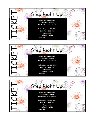 Ticket Invitation Template  Free Printable Word Templates