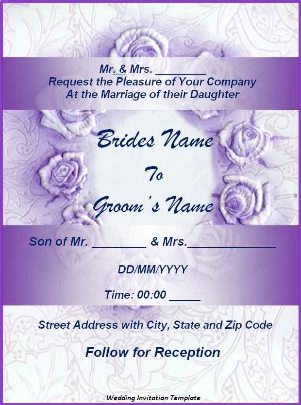 wedding invitation templates printable word templates  wedding invitation templates
