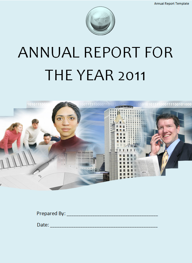 Annual Report Template Word Free Download from www.aztemplates.org