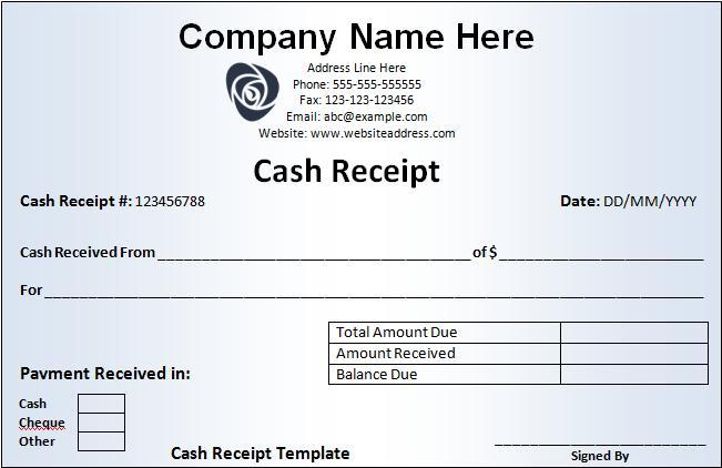 Receipt Templates | Free Printable Word Templates,