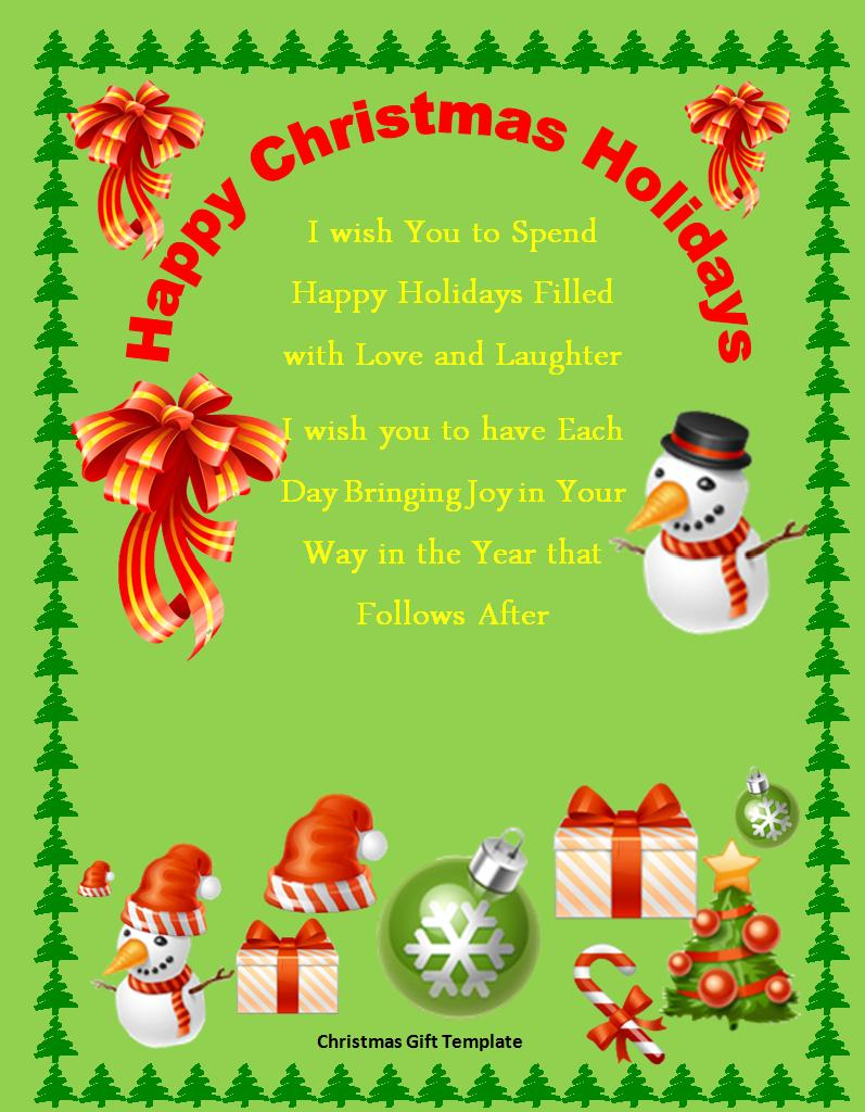 Free Christmas Template For Word from www.aztemplates.org