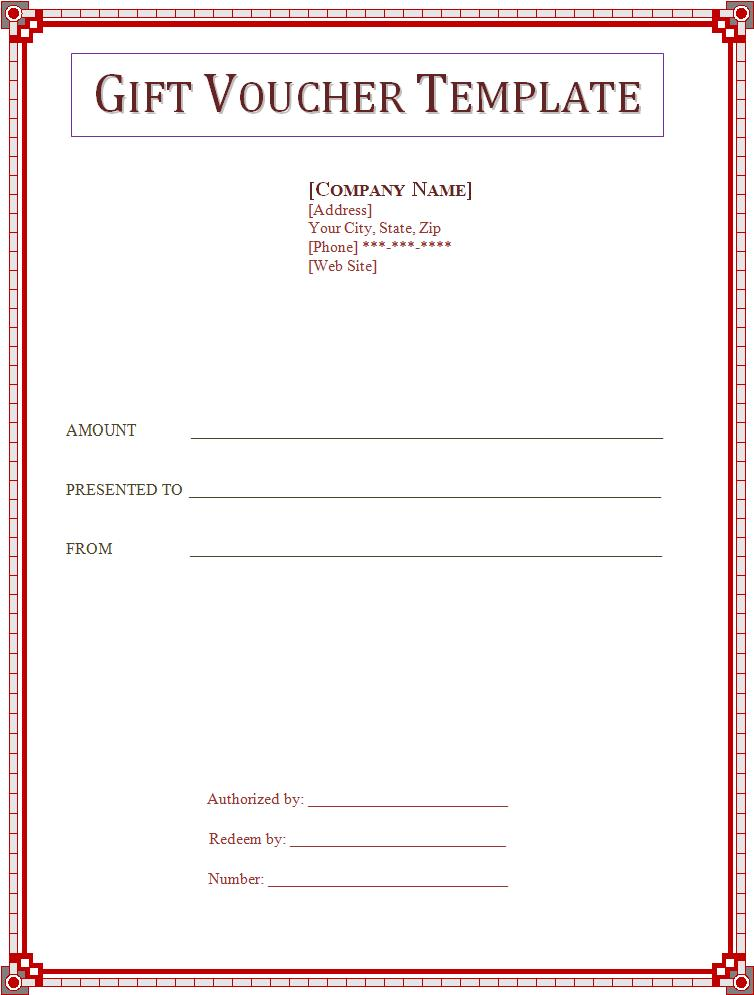 Word Gift Voucher Template Zrom