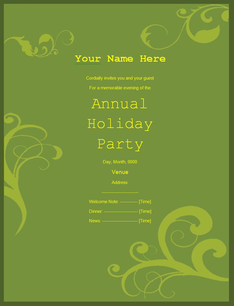 Invitation Templates | Free Printable Sample MS Word Templates, Resume ...