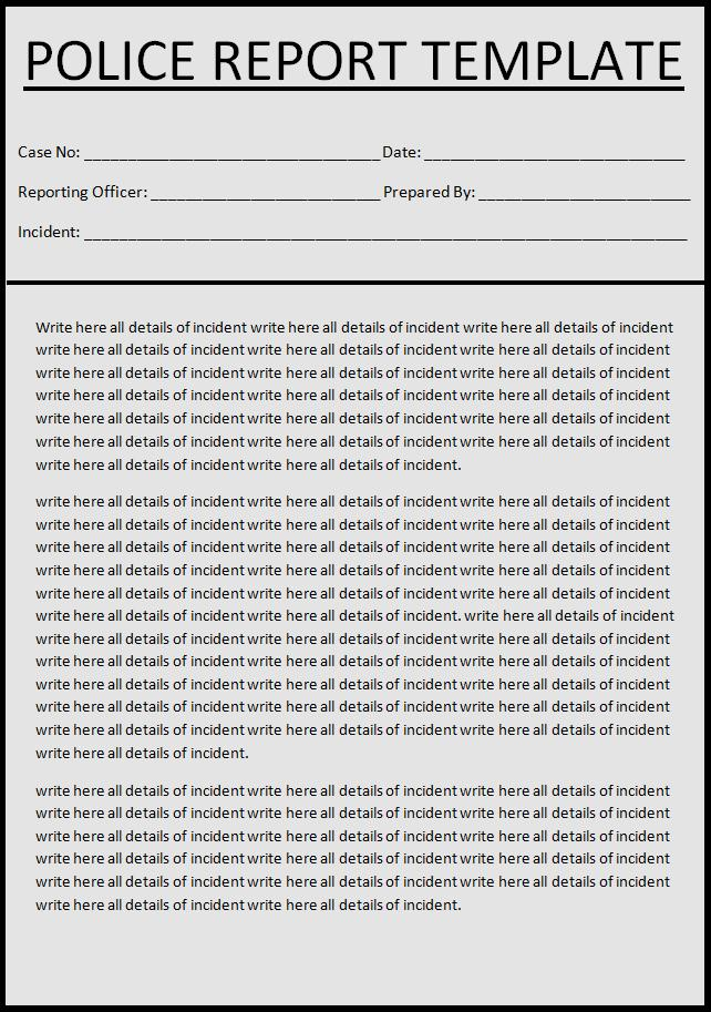 Report Templates Free Printable Sample Ms Word Templates