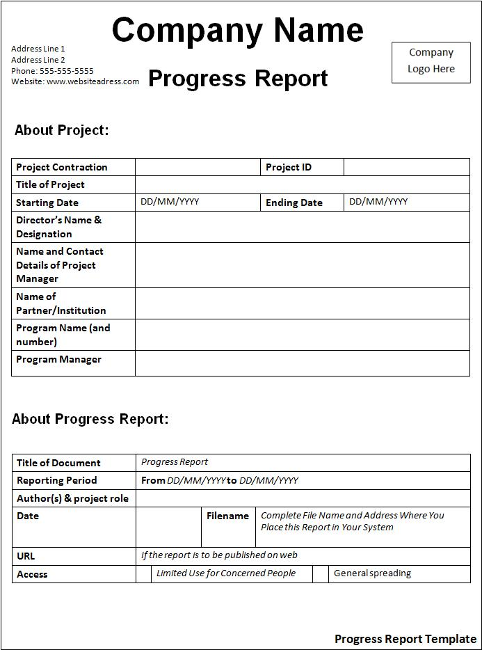 Click on the download button to get this Progress Report Template.