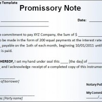 Promise to pay template thakylajulsp for Promissory note template arizona