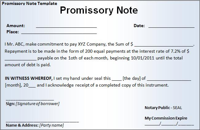 Click on the download button to get this Promissory Note Template.