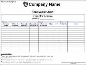 Receivable Template