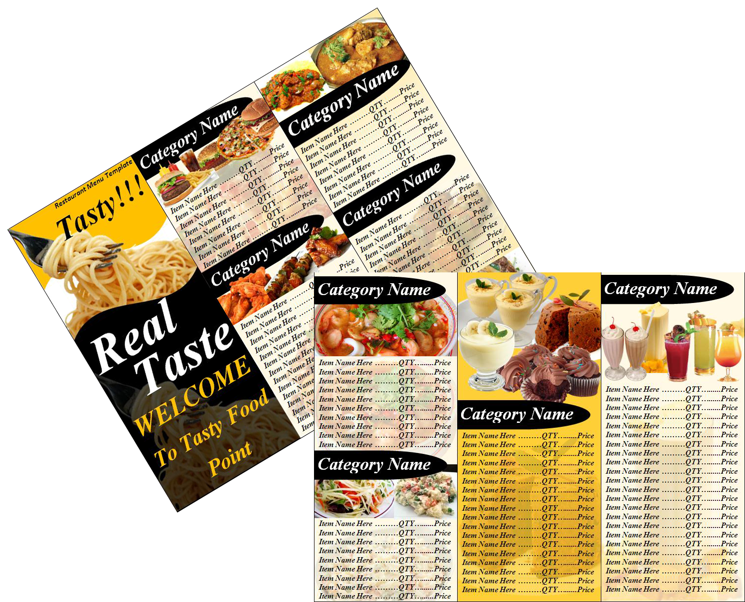 restaurant menu templates .