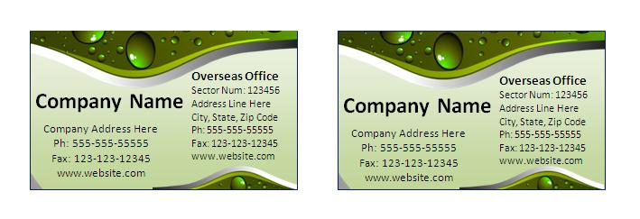 Visiting Card Template – Name Card Format