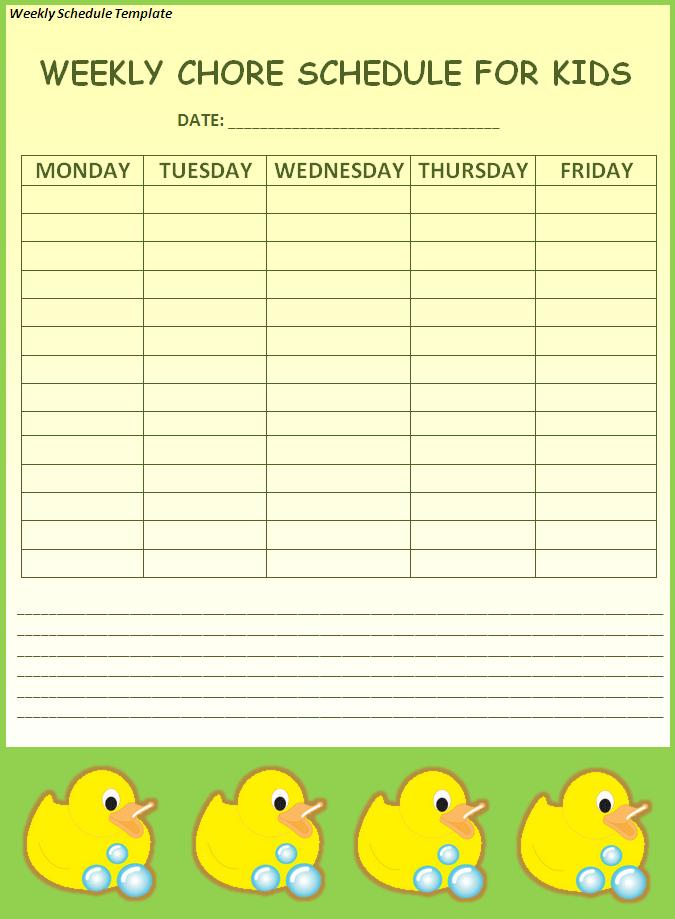 Weekly Schedule Template | Free Printable Word Templates,
