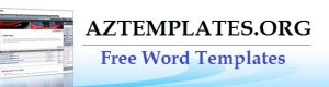 Free Printable Sample MS Word Templates, Resume, Forms, Letters and Formats